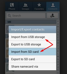 import contacts on samsung galaxy s7