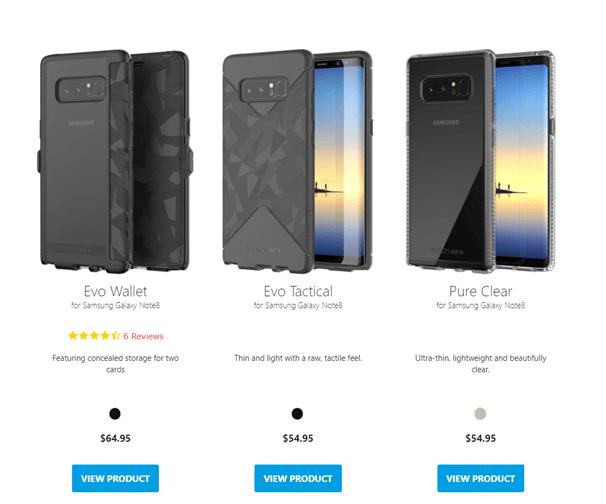 Samsung Galaxy Note 8 - Tech 21 cases