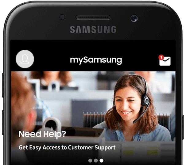 mySamsung App- Customer support