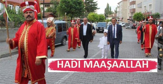 Havza'da mehterli sünnet düğünü ilgi çekti