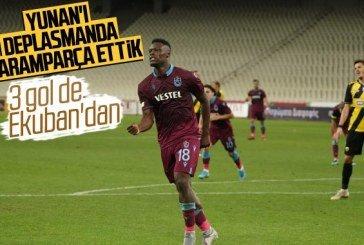 Trabzonspor AEK'yı 3 golle geçti