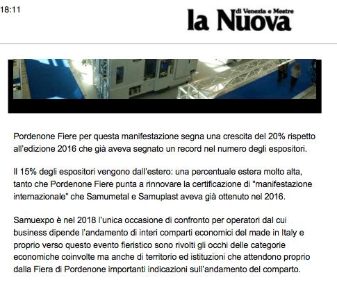 lanuova La Nuova di Venezia   29/01/2018