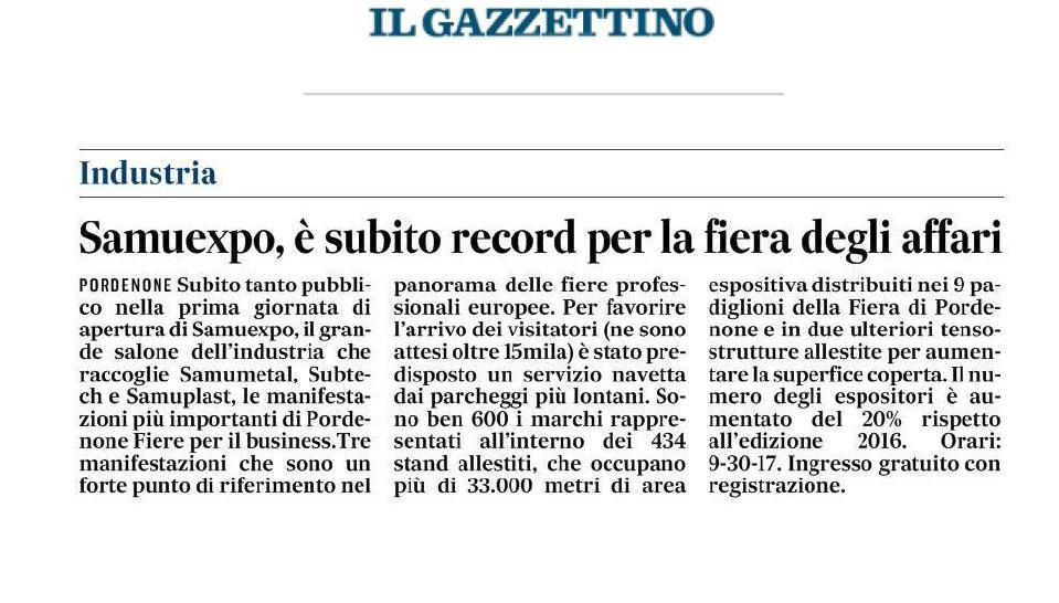 gazzettino sabato Il Gazzettino   03/02/2018