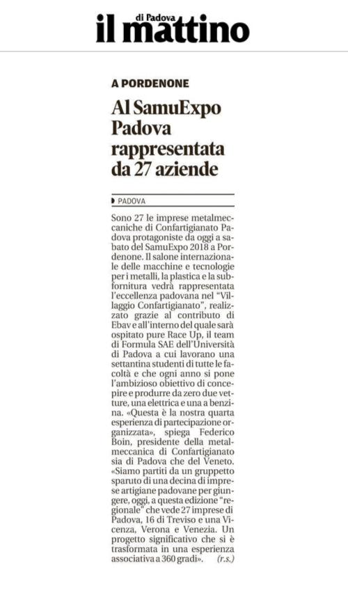 ilmattino Il Mattino di Padova – 01/02/2018