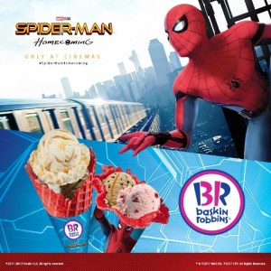 Baskin-Robbins SpiderMan Homecoming