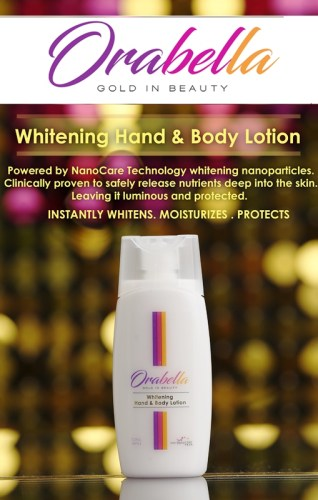 OraBella Gold in Beauty Hand and Body Lotion