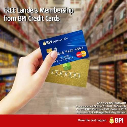 BPI Credit Card partners with Landers Superstore