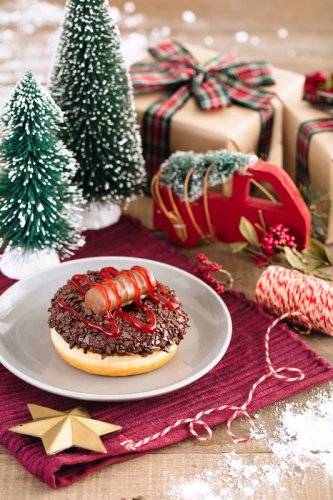 Tim Hortons Christmas Log Donut