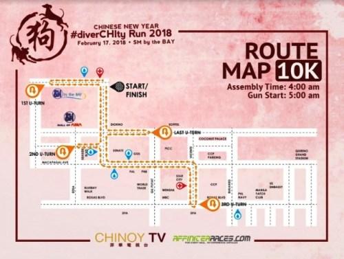 DiverCHIty 10k route map