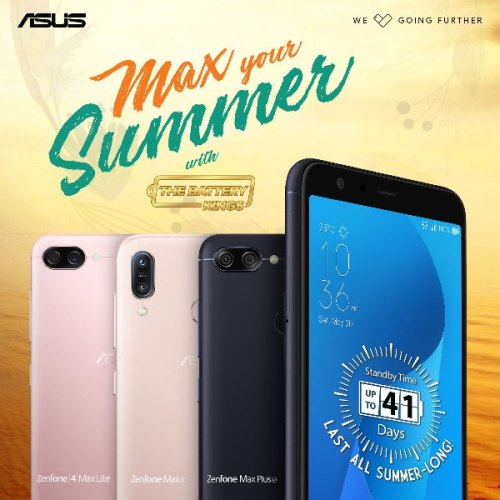 BATTERY KINGS that will #MaxYourSummer, the ZenFone Max Plus M1, ZenFone 4 Max Lite, and the new ZenFone Max M1