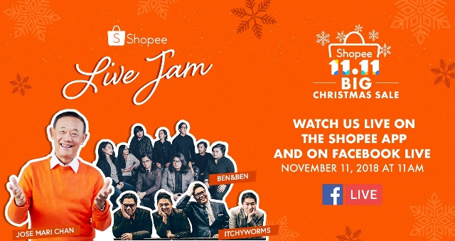 Shopee Philippines Facebook Live Jam on 11.11 Bg Christmas Sale