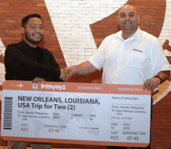 Popeyes fried chicken lover wins trip to Louisiana