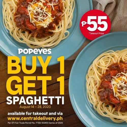 Popeyes_Buy 1 get 1 on Popeyes' Spaghetti