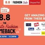 Shopee 8.8 Ultimate Fashion Show on Shopee Live