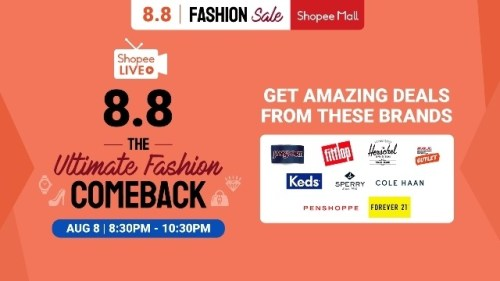 Shopee 8.8 Ultimate Fashion Show on Shopee Live