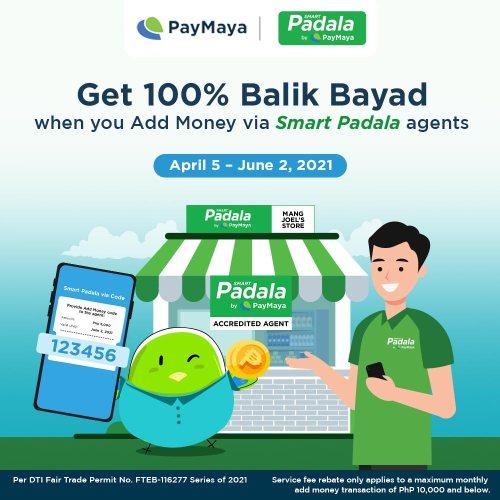 PayMaya Add Money via Smart Padala