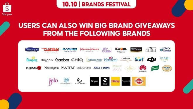 Shopee 10.10 Big Brand Giveaways