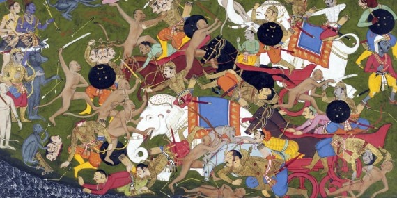 Battle_at_Lanka,_Ramayana,_Udaipur,_1649-53-