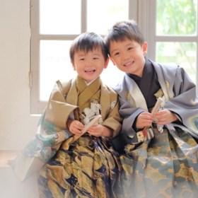 七五三記念 羽織袴レンタル 兄弟写真
