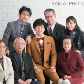 成人記念 家族写真