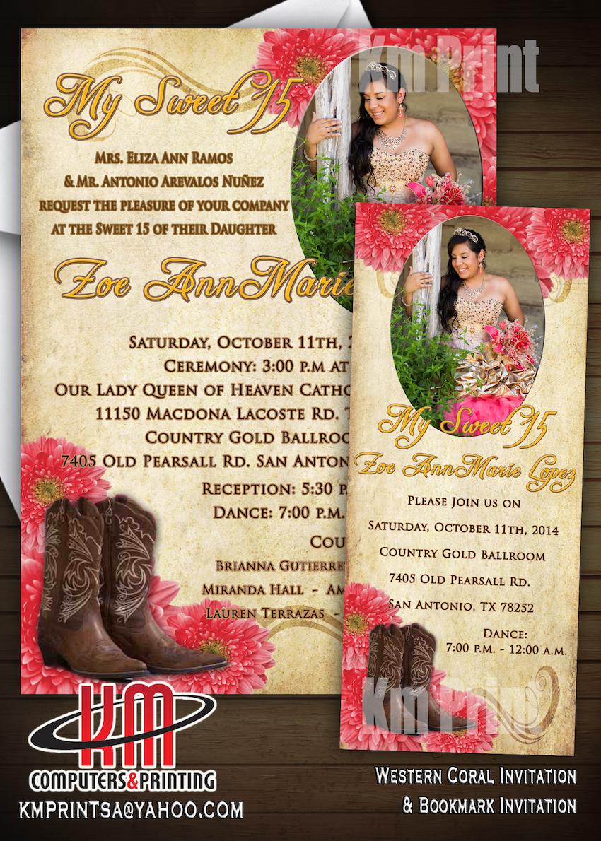 KM Print Custom Invitations San Antonio Custom