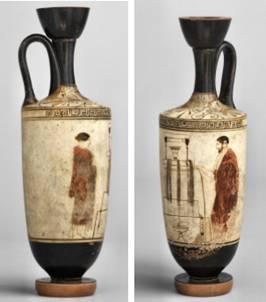 Attic beyaz zemin lekythos MÖ 440 ile ilgili görsel sonucu