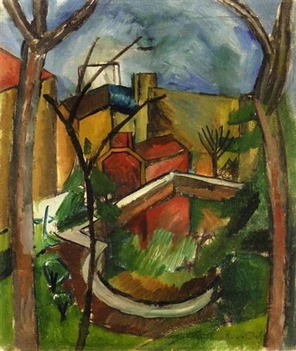 """""""Landscape of Falaise"""" Kübist tarzda yaptığı resim."""