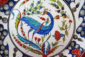 İznik Cinisi, Tavus kuşu motifi