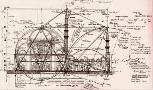 Başka bir açıyla Selimiye Camisinin planı.