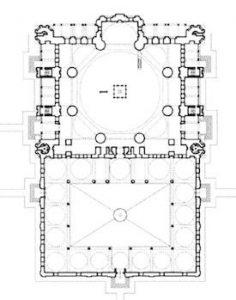 Selimiye Camisinin planı.