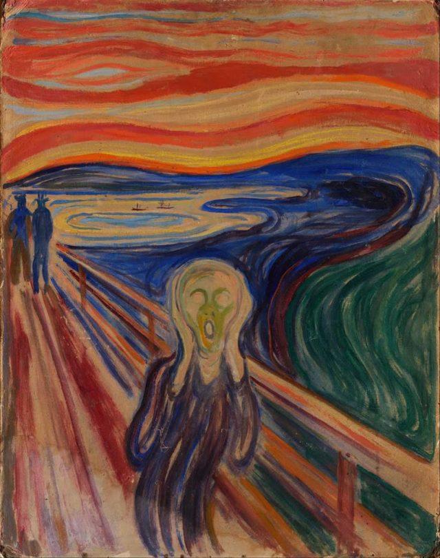 Edward Munch, Çığlık resmini 1893 yılında yapmıştır ve ilk adı Umutsuzluk'tur.
