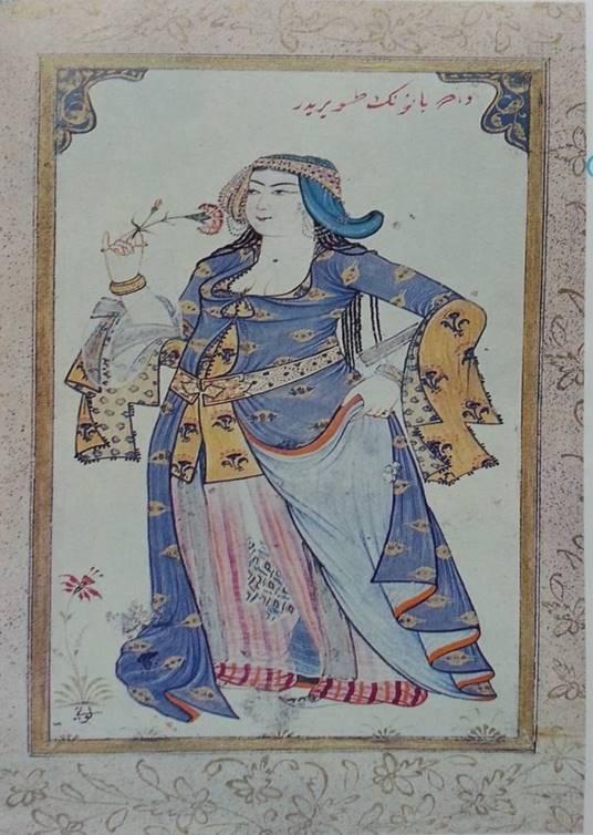 Resim 1 . Dader Banu Portresi , Levnî, y. 1720-25.