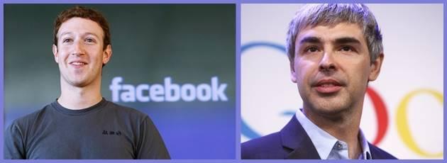 En zenginler listesinde Facebook ve Google sahipleri yer alıyor.