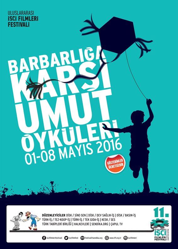 """İstanbul, Ankara, İzmir ve Diyarbakır'da eş zamanlı olarak gerçekleşen festivalde bu yıl """"Barbarlığa Karşı Umut Öyküleri"""" teması ile toplam 60 film gösteriliyor."""