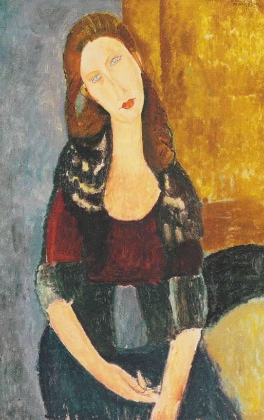 "Modigliani; ""Jeanne Hébuterne, 1918"""