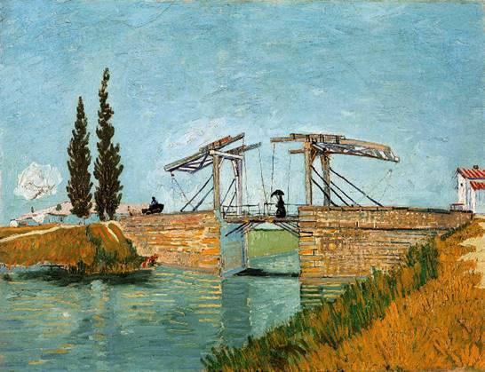 "Van Gogh; ""The Langlois Bridge at Arles, 1888"""