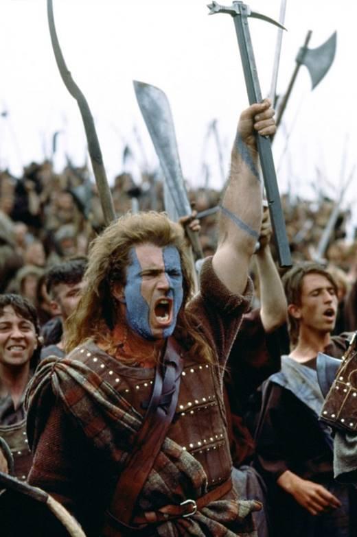 Yoksa; Özgürlüğü ve onuru için hayatını hiçe sayan cesur yürek William Wallace mı?