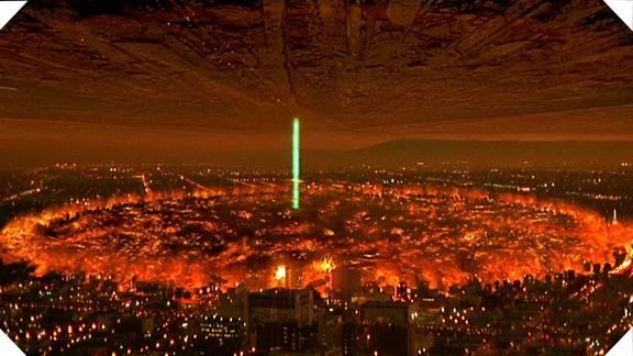Independence Day 2'de bir çok özel efekt görüntüsü yer almaktadır.