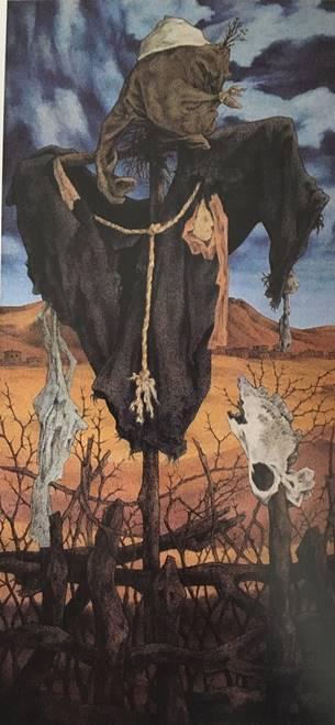 Resim 16: Korkuluk VII,(1988), tuval/ yağlıboya, 165x78cm