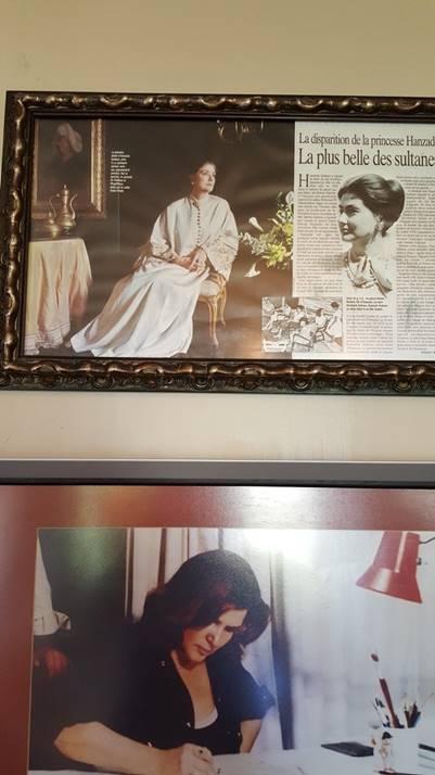Prensese ait fotoğraf, üzerindeki de Z. Yorgancıoğlu tasarımı.