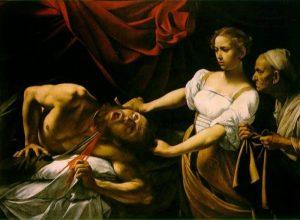 Caravaggio, Judith Holofernes'in Kafasını Keserken, 1598-99*