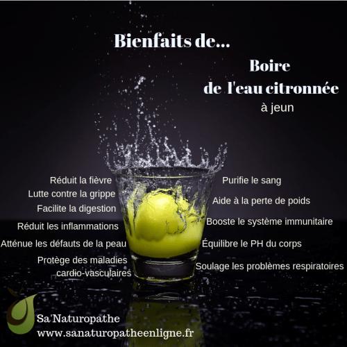 boire de l'eau citronnée à jeun