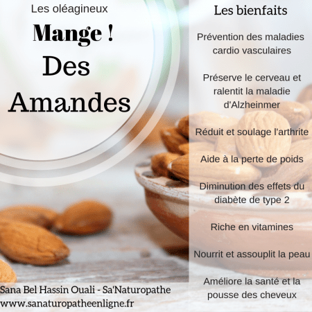 fruits oléagineux amandes