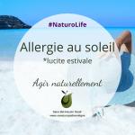 Allergie au soleil : agir naturellement