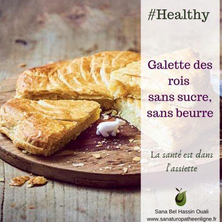 galette des rois sans sucre, sans beurre, healthy