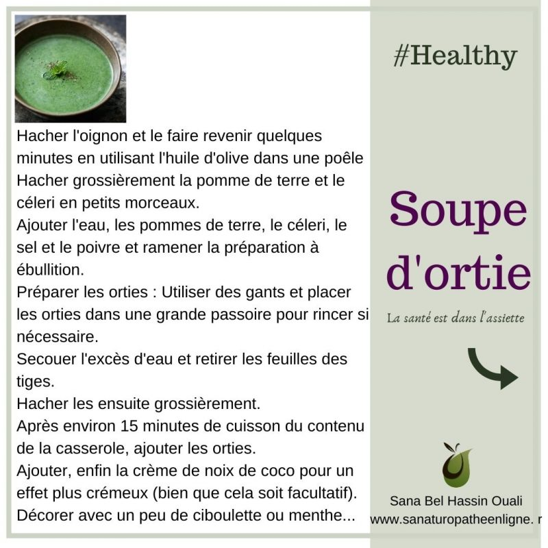 recette soupe d'ortie