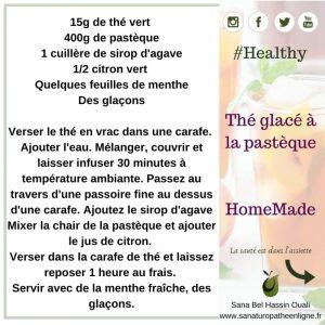 Thé glacé à la pastèque healthy