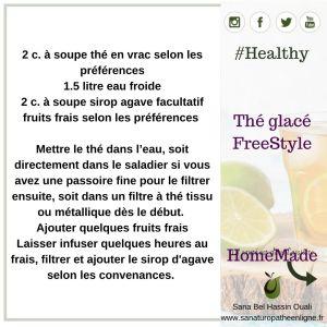 Thé glacé freestyle healthy
