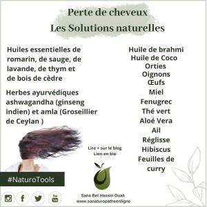 produits naturels contre la perte de cheveux