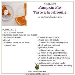 tarte d'automne, tarte à la citrouille